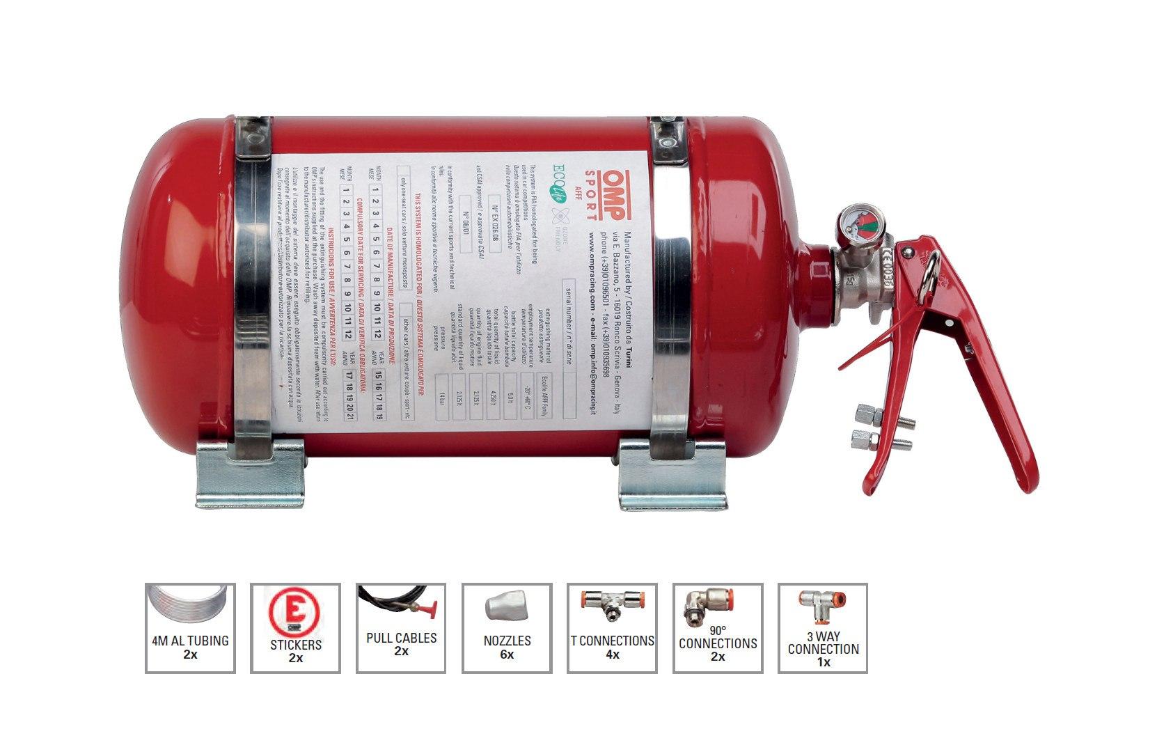 System gaśniczy OMP Sport (CA/372) - GRUBYGARAGE - Sklep Tuningowy